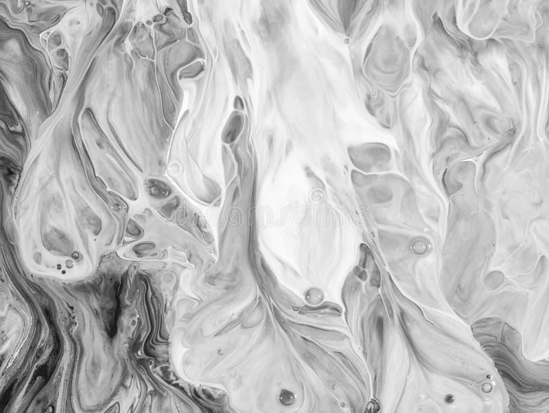 黑白摘要绘了背景,墙纸,纹理 现代的艺术 免版税库存照片