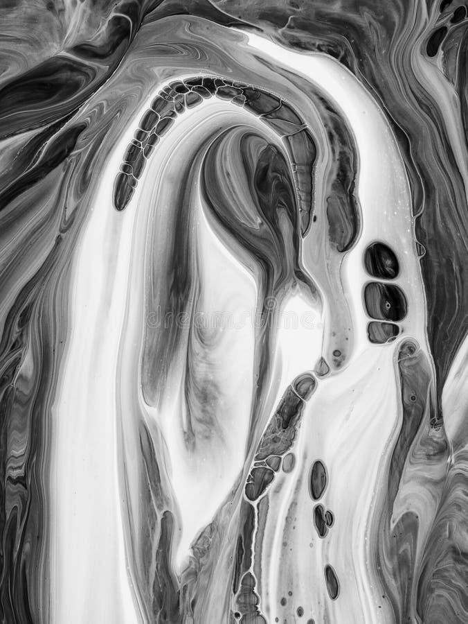 黑白摘要绘了背景,墙纸,纹理 现代的艺术 库存例证