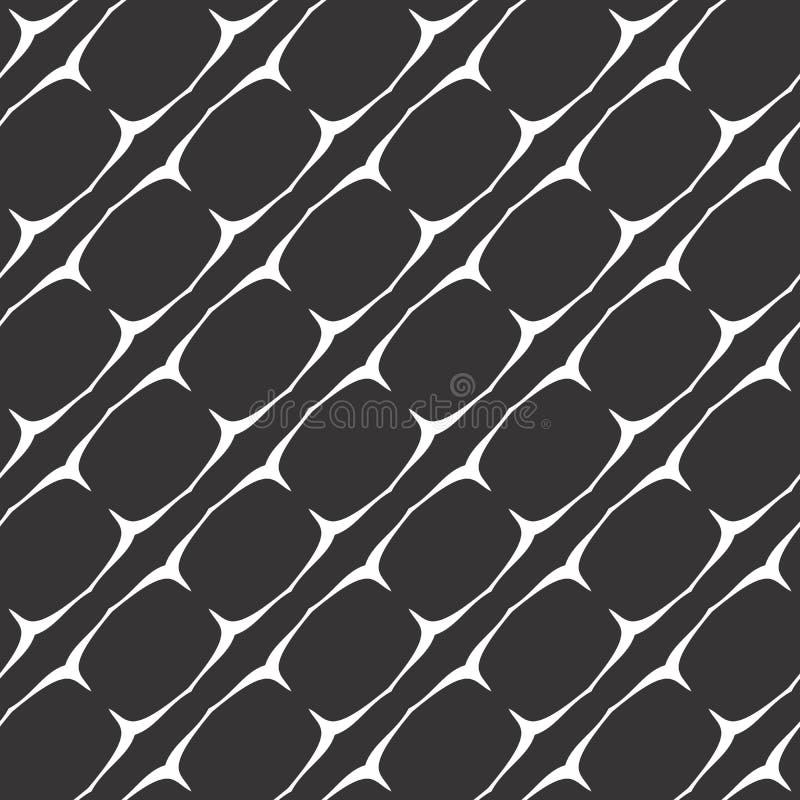 黑白无缝的几何样式 向量例证