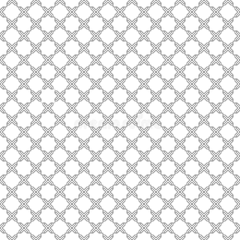 黑白无缝的样式 库存例证