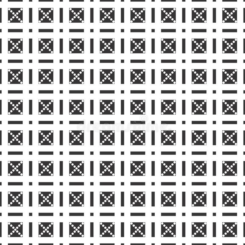 黑白无缝的检查几何样式 最佳, argyle 库存例证