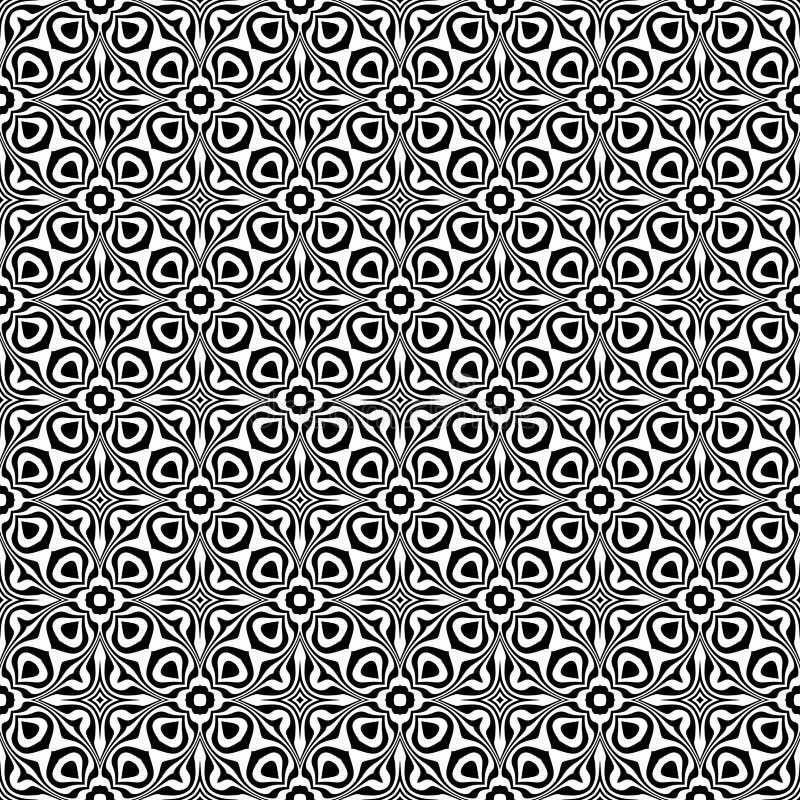 黑白无缝的重复的传染媒介样式 多彩多姿,想法 库存例证