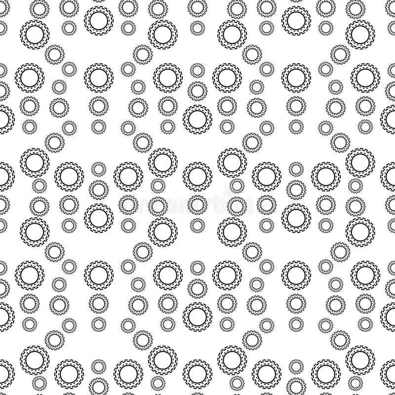 黑白无缝的Steampunk样式 库存例证