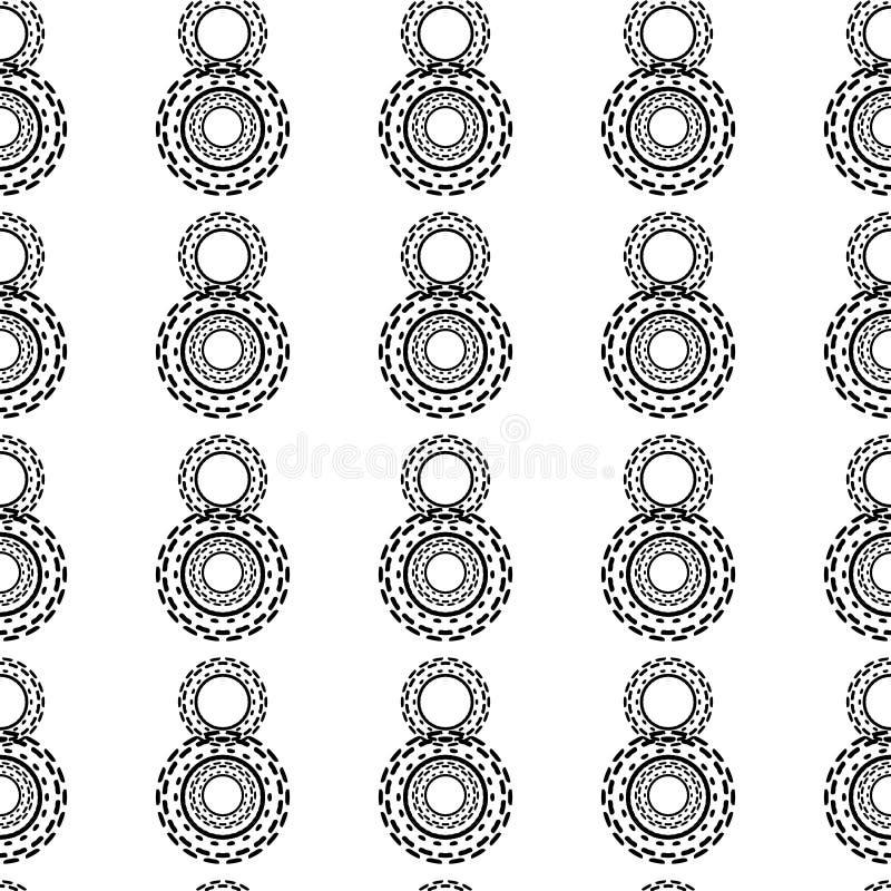 黑白无缝的Steampunk样式 皇族释放例证