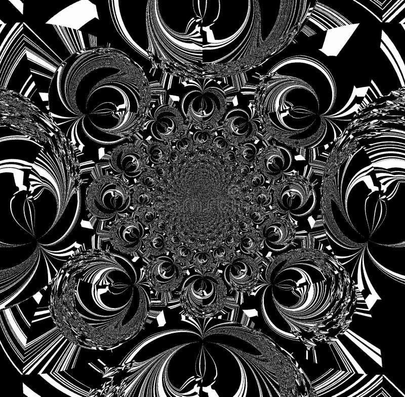 黑白样式和装饰品 例证,背景 向量例证