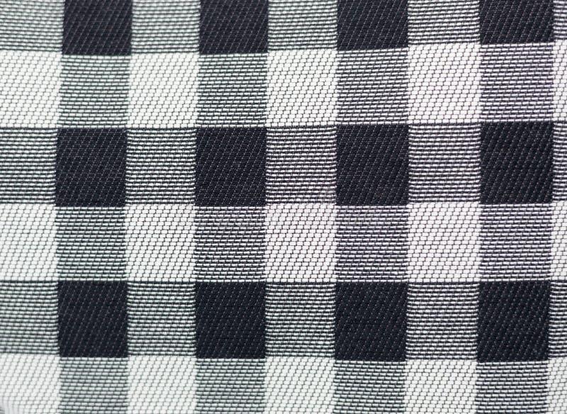 黑白格子花呢披肩方格的样式提包特写镜头 图库摄影