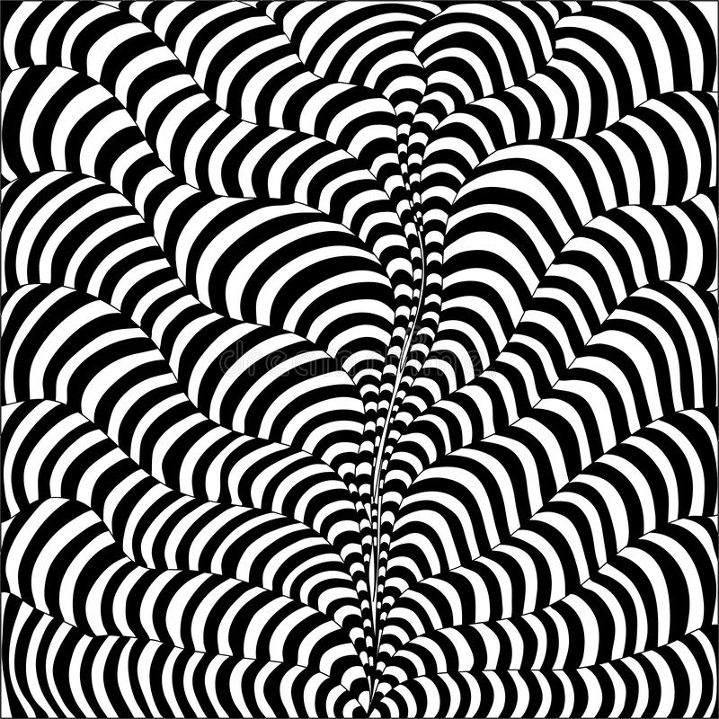黑白波浪条纹 库存例证