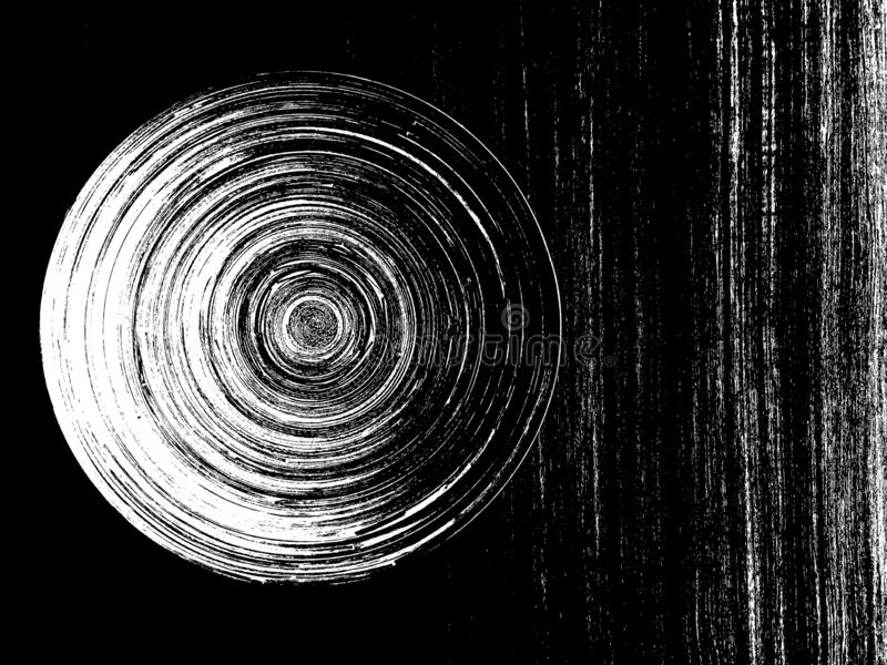 黑白漩涡圈子 库存照片