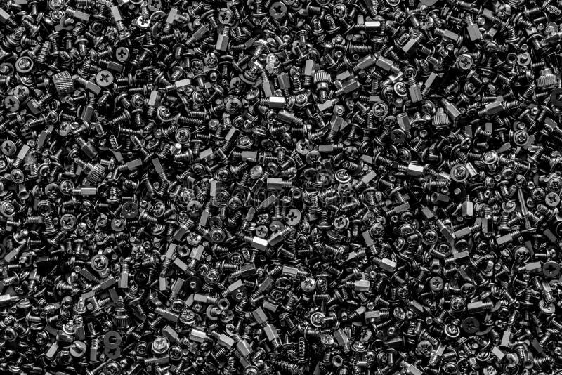 黑白的螺栓纹理  免版税库存照片