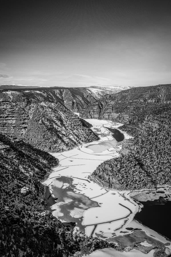 黑白红色的峡谷 免版税图库摄影