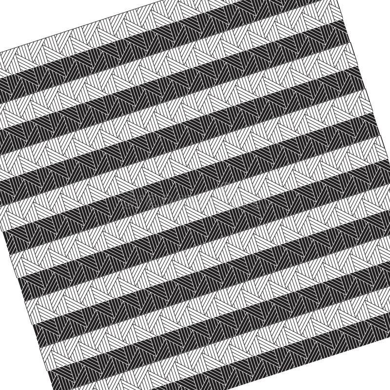 黑白线纹理 皇族释放例证
