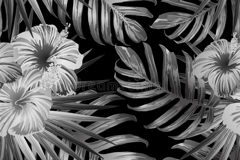 黑白色异乎寻常的样式 皇族释放例证