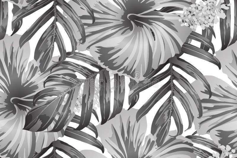 黑白色异乎寻常的样式 向量例证