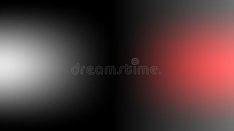 黑白色红色被弄脏的被遮蔽的背景墙纸 生动的传染媒介例证 库存例证