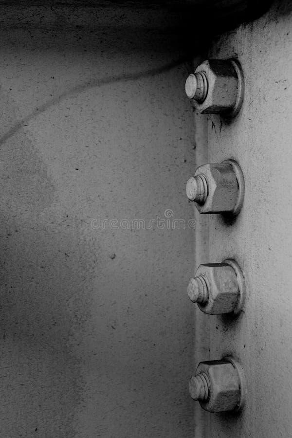 黑白螺栓 免版税库存图片