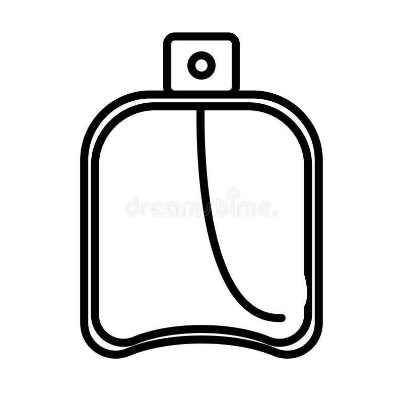 黑白象是简单的线性时兴的迷人的化妆用品,有香水的,adicolon,润肤水玻璃瓶 库存例证
