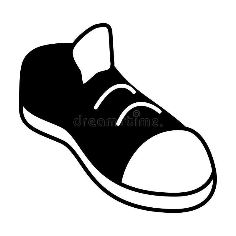 黑白运动鞋的体育 皇族释放例证