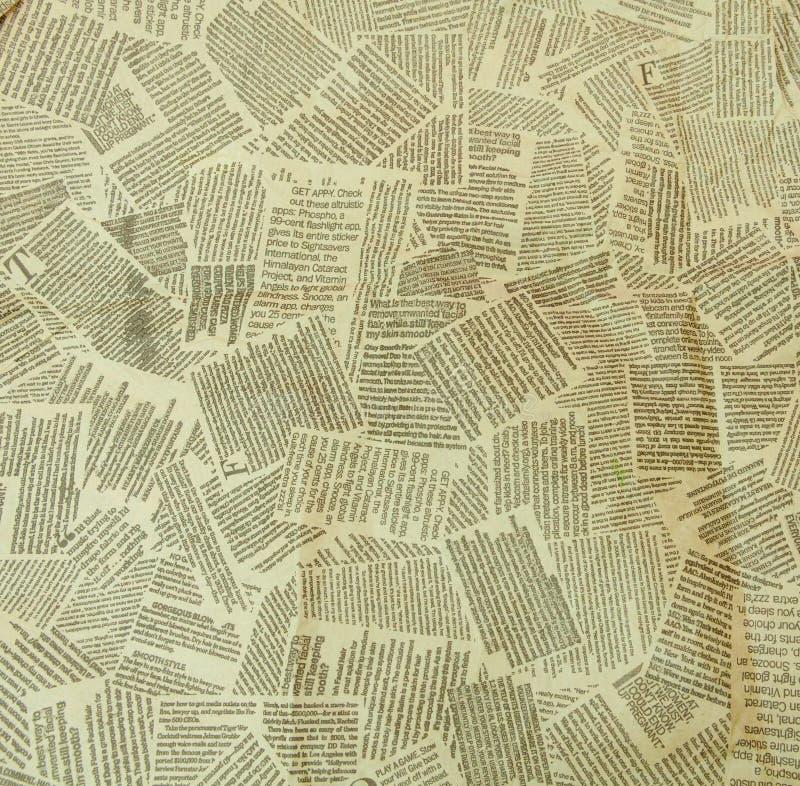 黑白重复的被撕毁的报纸背景 连续的样式,正确,上上下下 免版税图库摄影