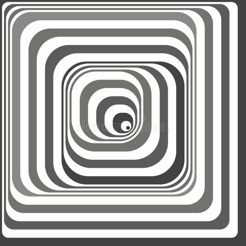 黑白错觉 向量例证