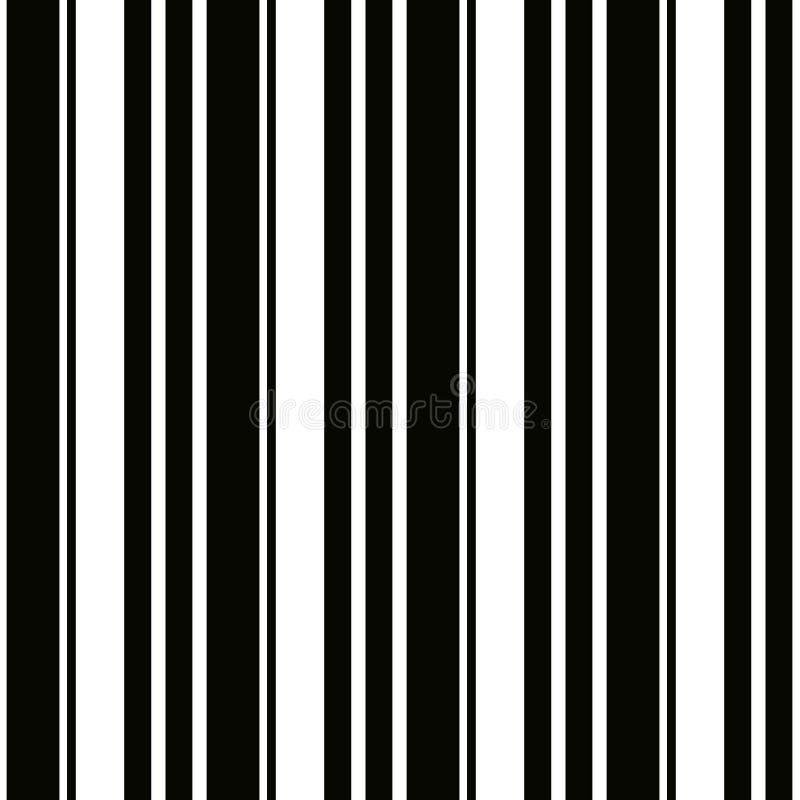 黑白颜色反复垂直的小条的万圣夜样式  黑白垂直条纹背景 无缝 皇族释放例证