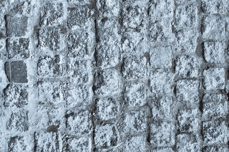 黑白鹅卵石路面纹理 特写镜头块 免版税库存照片