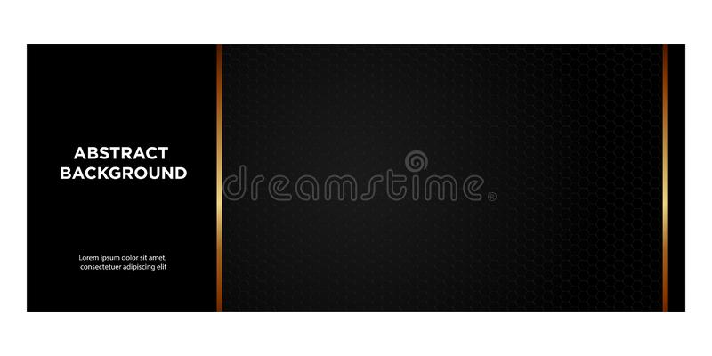 黑的横幅和倒栽跳水的website_07金子梯度 向量例证