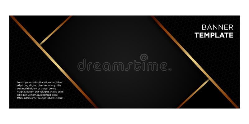 黑的横幅和倒栽跳水的website_03金子梯度 皇族释放例证