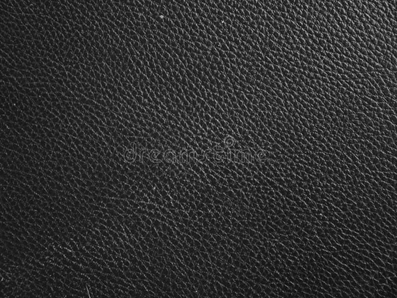 黑皮革样式背景的皮肤纹理宏观关闭 免版税库存图片