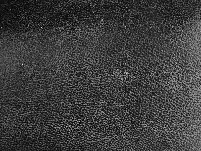 黑皮革皮肤纹理背景,肮脏的皮革纹理的关闭 库存图片