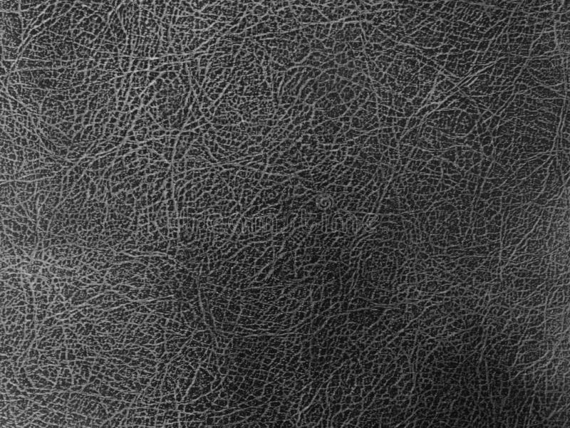 黑皮革皮肤纹理背景,肮脏的皮革纹理的关闭 库存照片