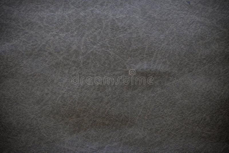黑皮革纹理特写镜头和样式背景 免版税图库摄影