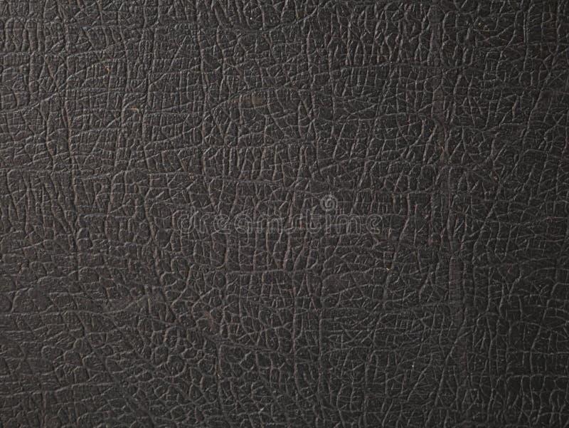黑皮革纹理 灰色,光 库存图片