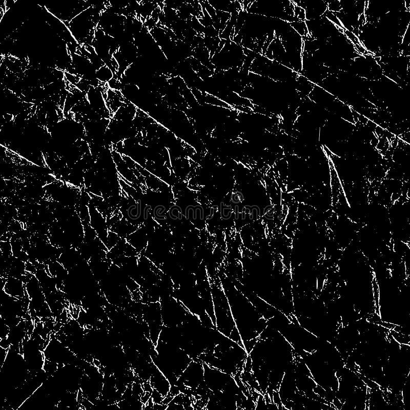 黑矢量图上Grunge不良无缝重复图样White 免版税库存照片