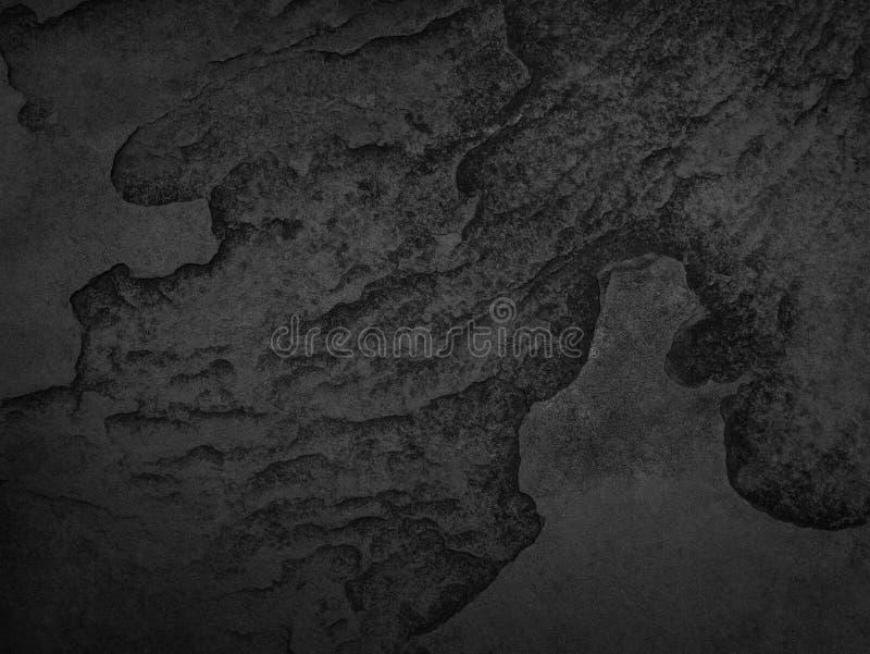 黑石头,板岩纹理背景 库存照片