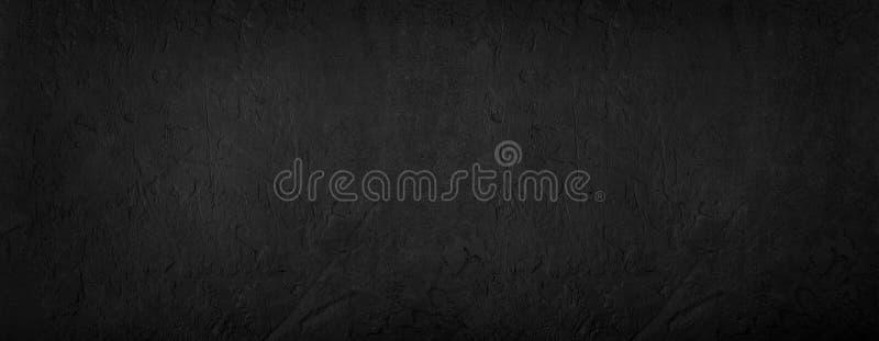 黑石背景,灰色水泥纹理 顶视图,平的位置 免版税库存图片