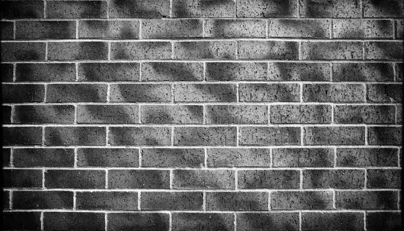 黑砖墙背景,纹理 库存图片