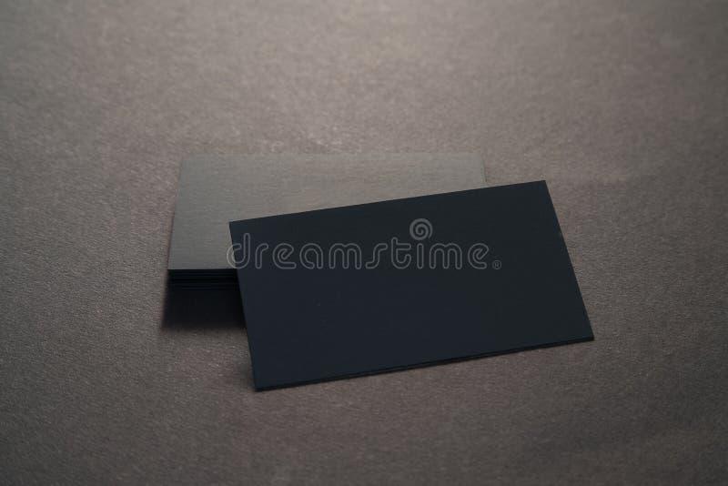 黑空白的名片照片在黑背景的 Templ 免版税库存图片