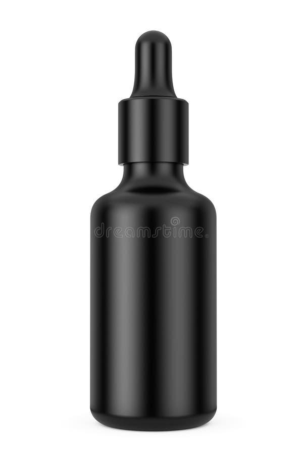 黑空的大模型滴管瓶 3d翻译 皇族释放例证