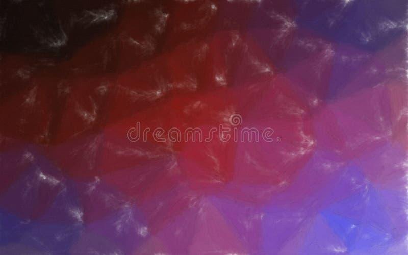 黑红色和蓝色水彩的抽象例证与大刷子的抚摸背景,数位引起 库存例证