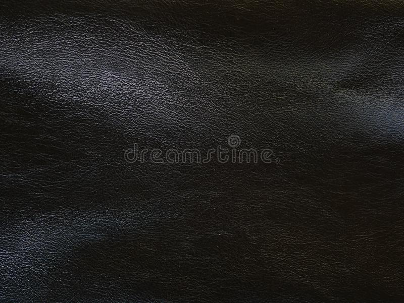 黑纹理皮革象表面背景 库存照片