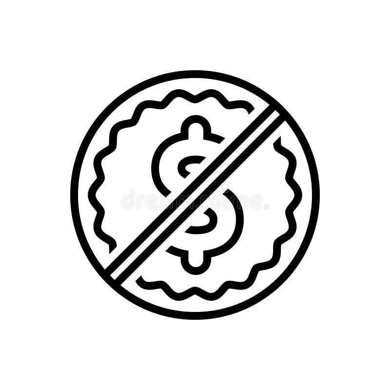 黑线象免费,解放和商业 库存例证