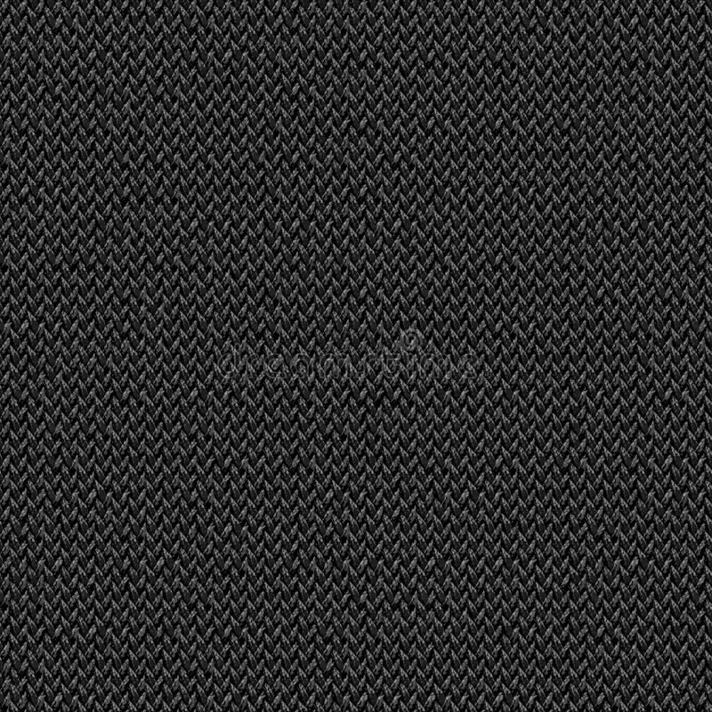 黑织品无缝的纹理 3d和第2的纹理地图 图库摄影