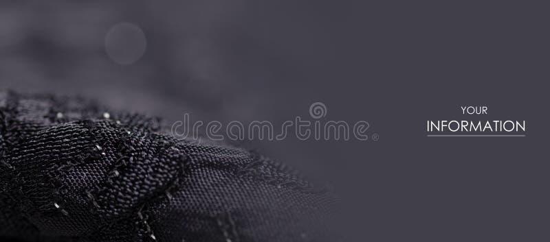 黑织品纹理材料闪耀衣服饰物之小金属片发光样式 库存图片
