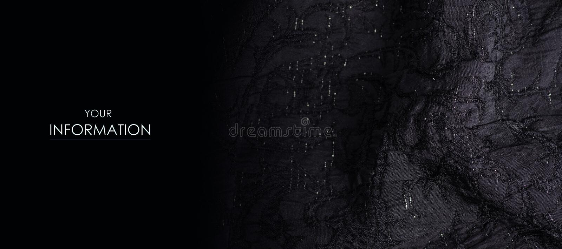 黑织品纹理材料闪耀衣服饰物之小金属片发光样式 免版税图库摄影
