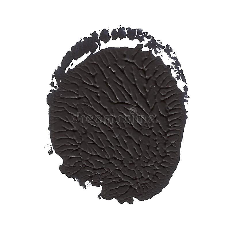 黑织地不很细圆的丙烯酸漆摘要斑点 皇族释放例证