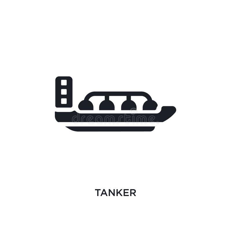 黑罐车被隔绝的传染媒介象 从运输概念传染媒介象的简单的元素例证 罐车编辑可能的商标 库存例证