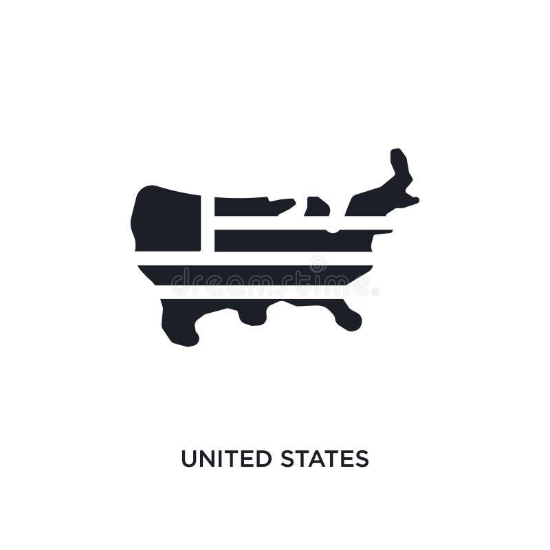 黑美国隔绝了传染媒介象 从概念传染媒介象的简单的元素例证 美国编辑可能的商标 皇族释放例证