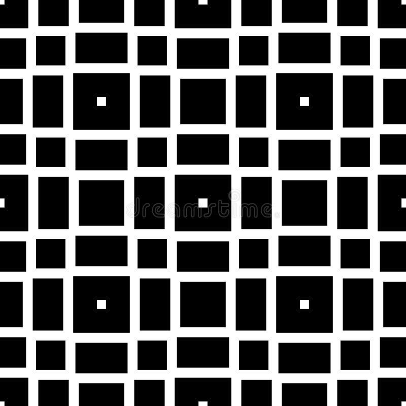 黑背景传染媒介无缝的repeted样式设计 向量例证