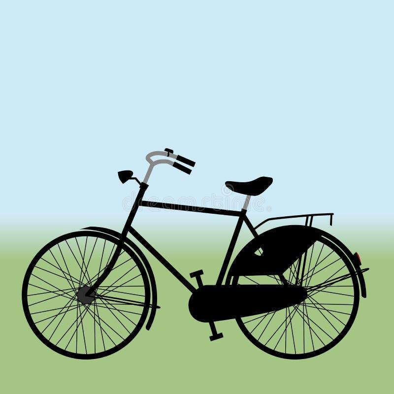 黑自行车传染媒介例证 绅士模型 库存例证