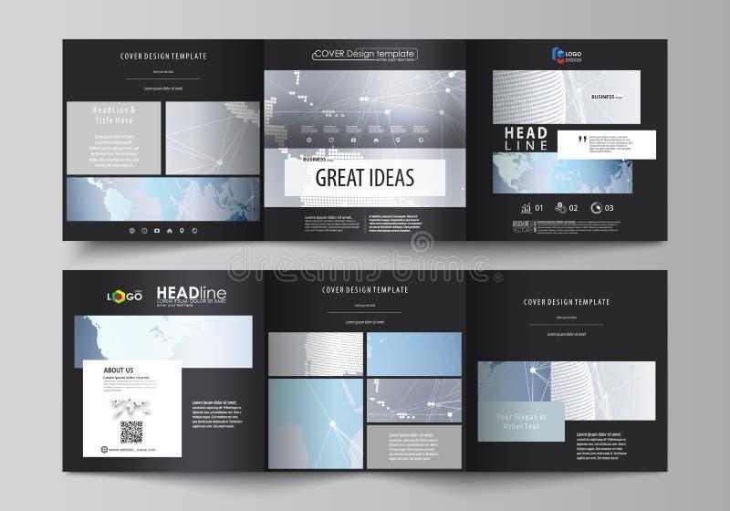黑色上色了编辑可能的布局的minimalistic传染媒介例证 两块创造性的盖子设计模板为 皇族释放例证